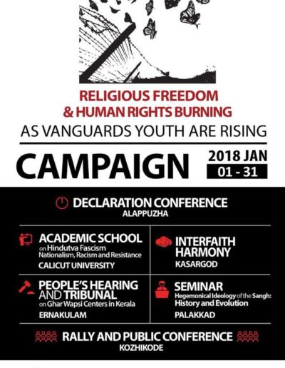 Religious Freedom and Human Rights Burning As Vanguards Youth are Rising  Campaign Jan 1-31